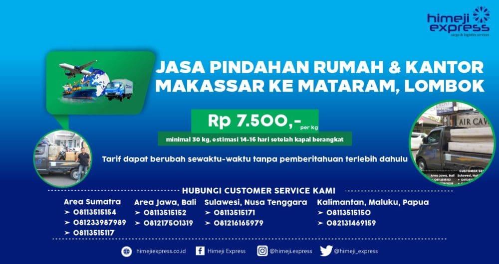 Jasa Pindahan Rumah dan Kantor Makassar ke Mataram, Lombok