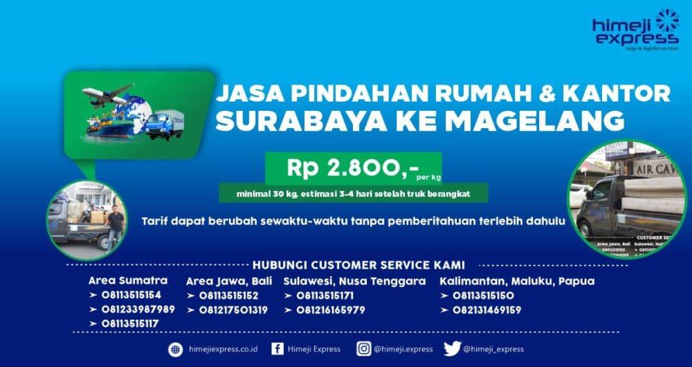 Jasa Pindahan Rumah dan Kantor dari Surabaya ke Magelang