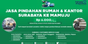 Jasa Pindahan Rumah dan Kantor dari Surabaya ke Mamuju