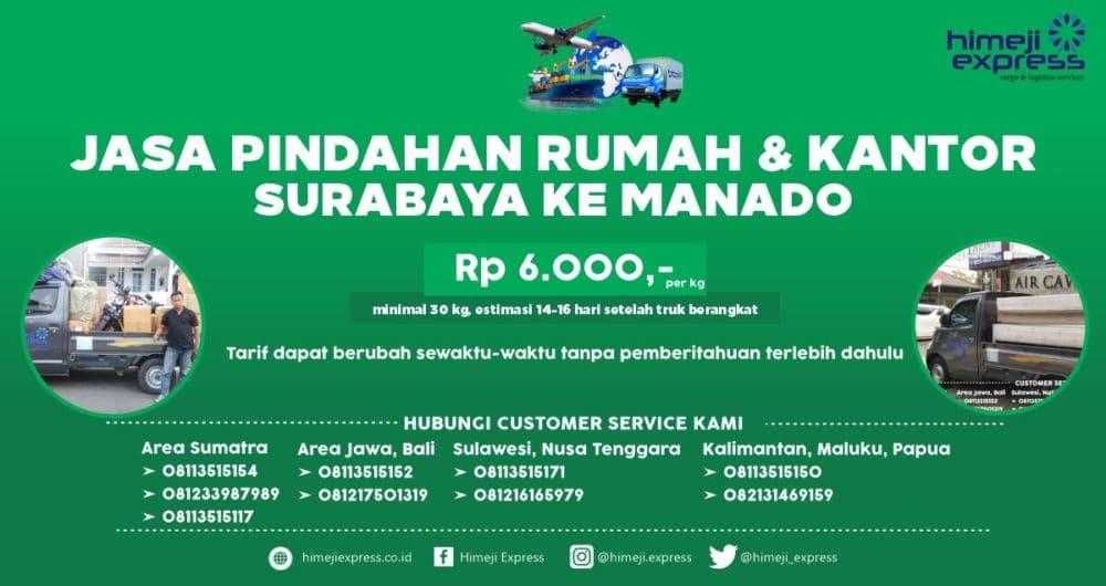Jasa Pindahan Rumah dan Kantor dari Surabaya ke Manado