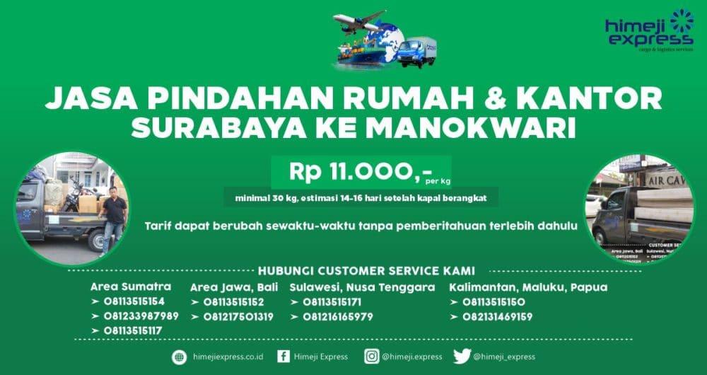 Jasa Pindahan Rumah dan Kantor dari Surabaya ke Manokwari
