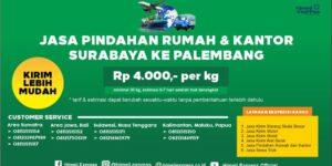 Jasa Pindahan Rumah dan Kantor dari Surabaya ke Palembang