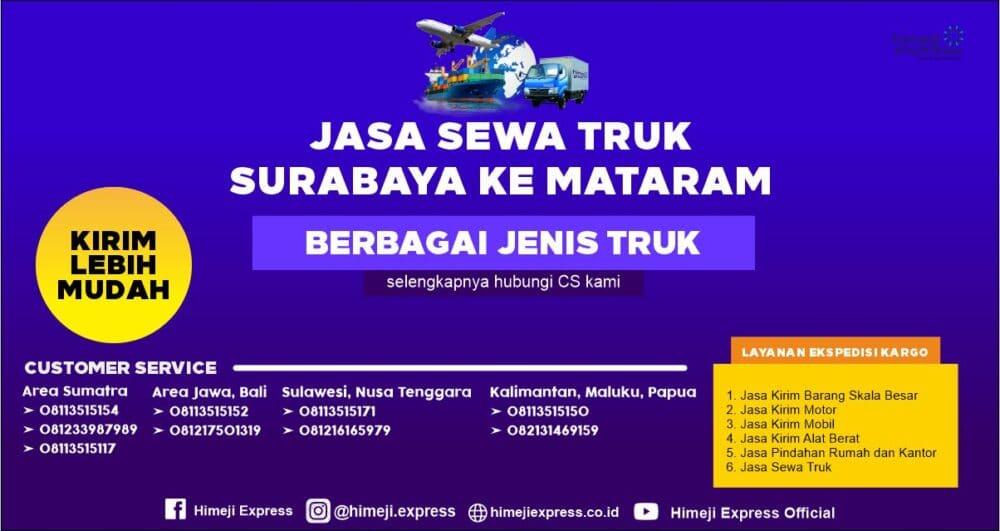 Jasa Rental Truk Surabaya ke Mataram