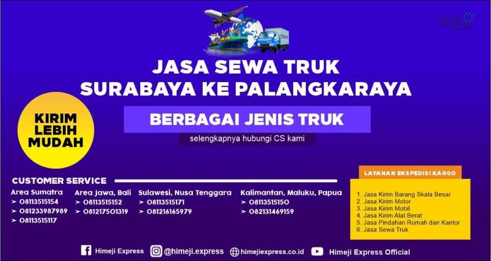 Jasa Rental Truk Surabaya ke Palangkaraya