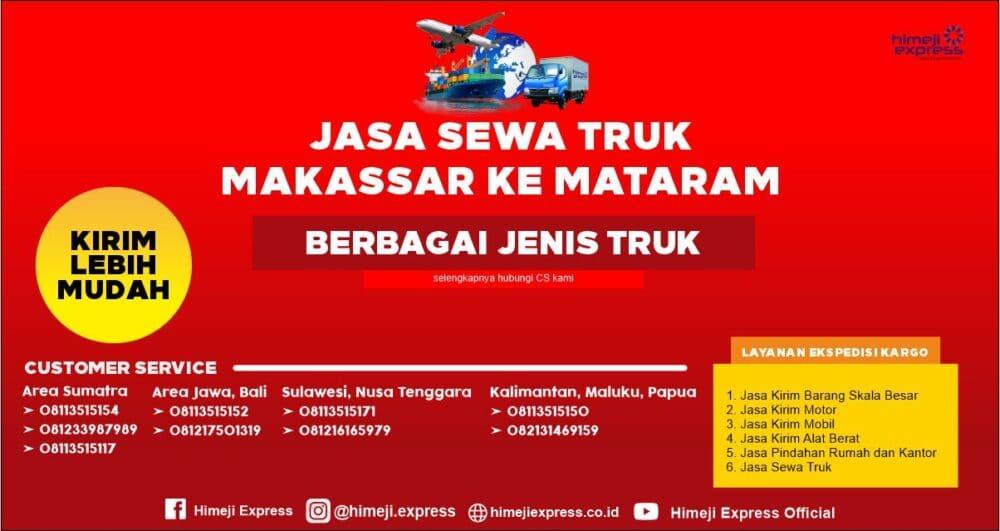 Jasa Sewa Truk Makassar ke Mataram