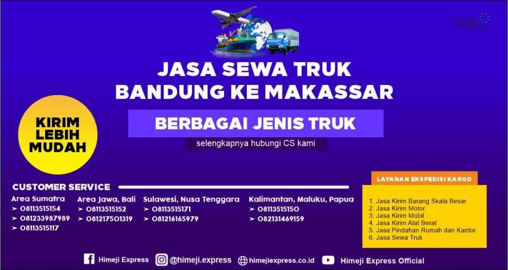 Jasa Sewa Truk dari Bandung ke Makassar