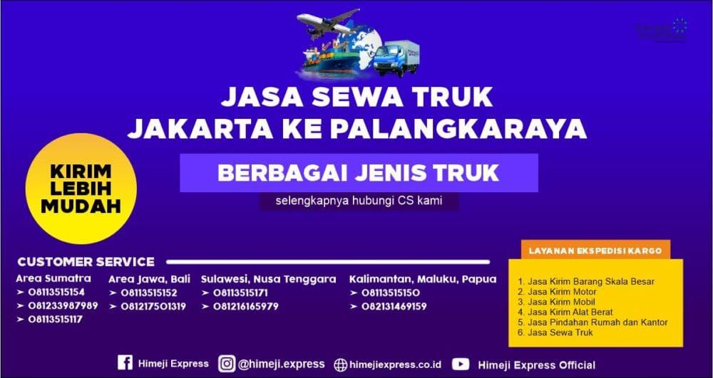 Jasa Sewa Truk dari Jakarta ke Palangkaraya