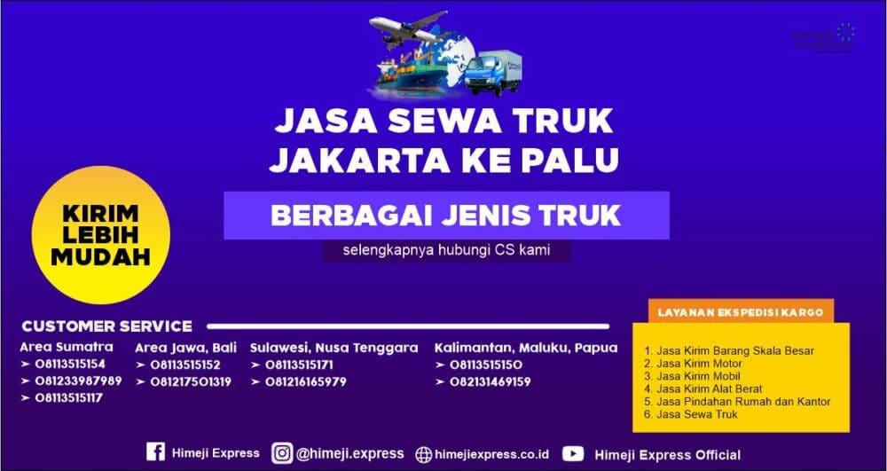 Jasa Sewa Truk dari Jakarta ke Palu