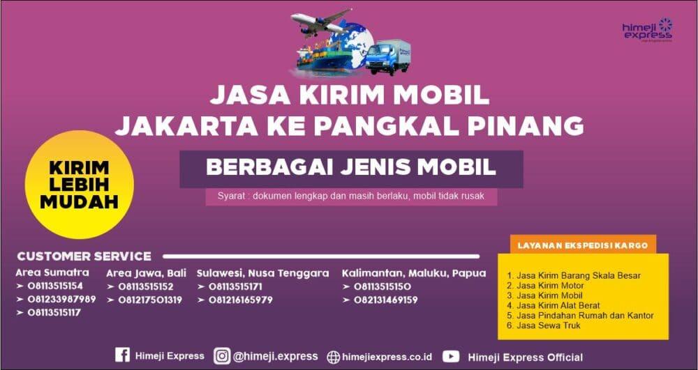 Jasa Kirim Mobil dari Jakarta ke Pangkal Pinang