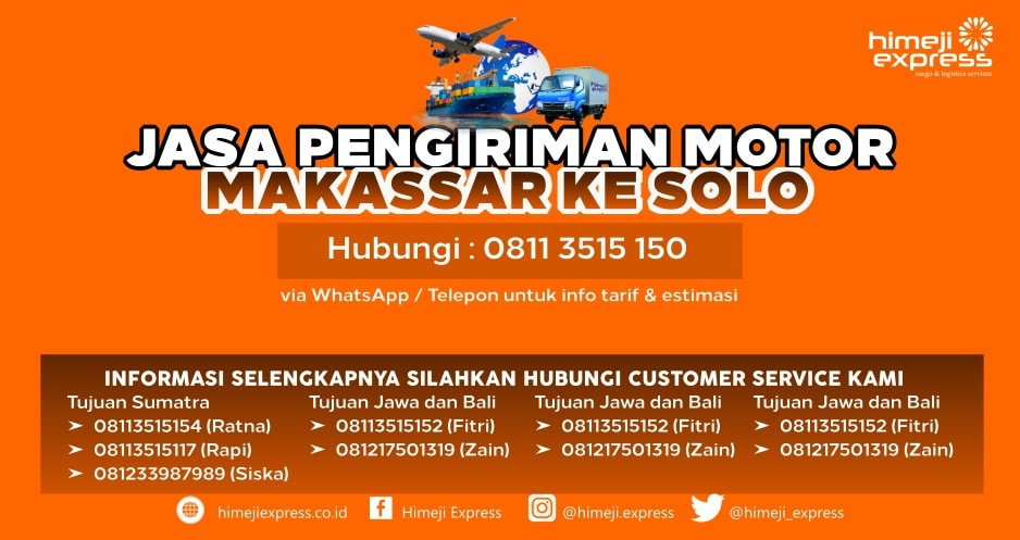 Jasa_Kirim_Motor_Makassar_ke_Solo