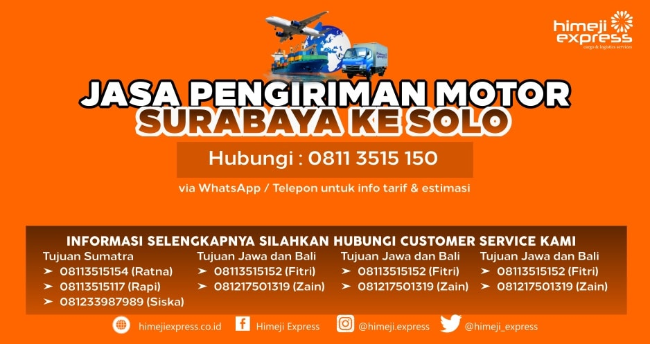 Jasa_Kirim_Motor_Surabaya_ke_Solo