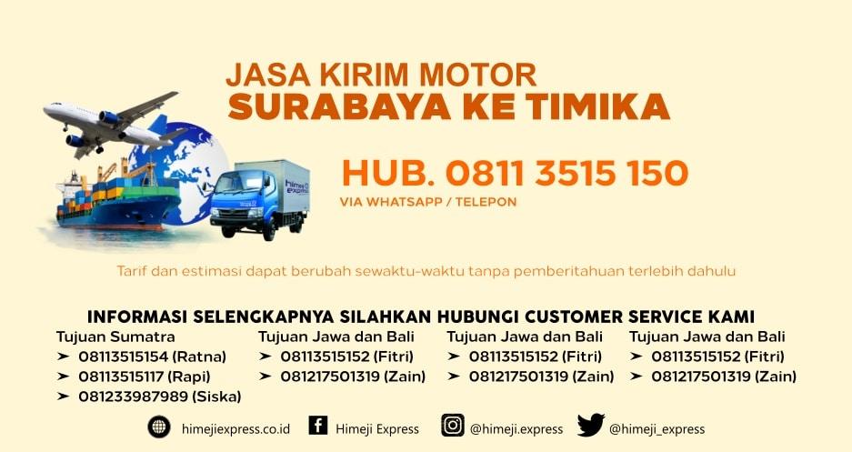 Jasa_Kirim_Motor_Surabaya_ke_Timika