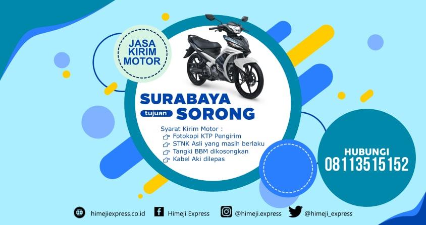 Jasa_Kirim_Motor_Surabaya_ke_Sorong
