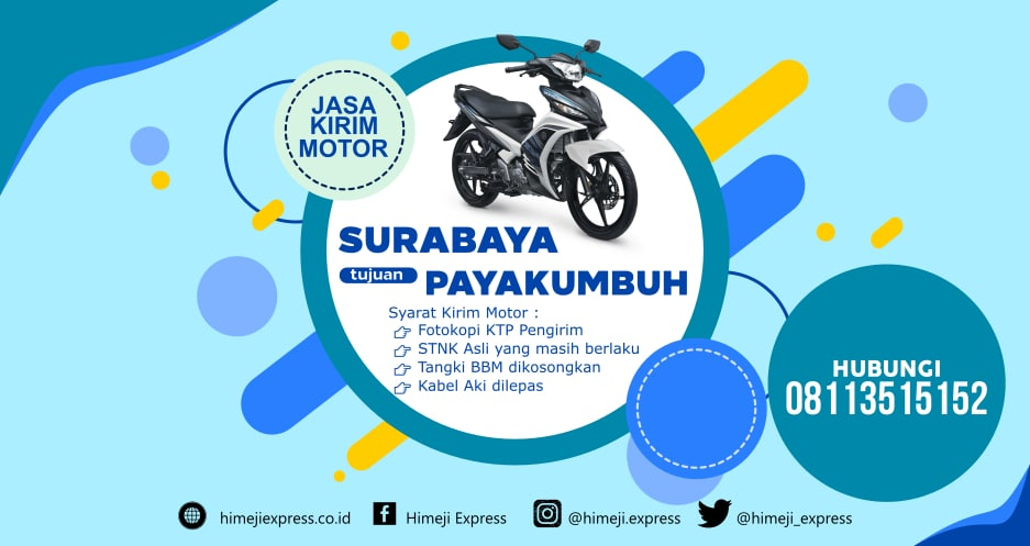 Jasa_Kirim_Motor_Surabaya_ke_Payakumbuh