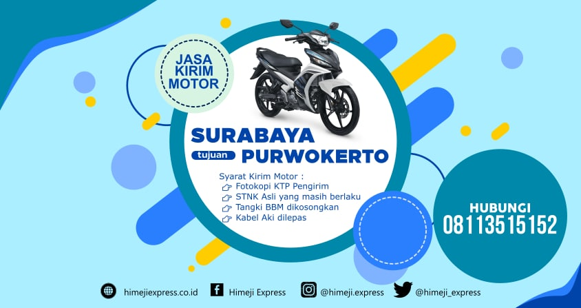 Jasa_Kirim_Motor_Surabaya_ke_Purwokerto